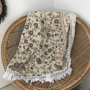 Other - Floral Boho Lightweight Circle Throw Blanket